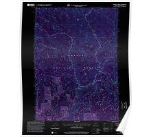 USGS Topo Map Oregon Dumont Creek 279721 1998 24000 Inverted Poster