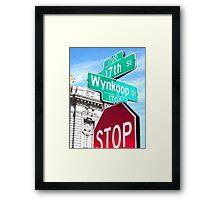 STOP ON WYNKOOP  Framed Print