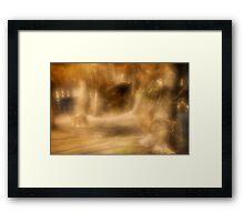 Painted scene Framed Print