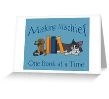 Making Mischief - Cat & Platypus Greeting Card
