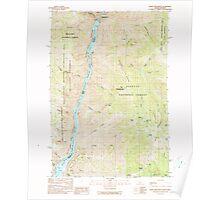 USGS Topo Map Idaho White Monument 238771 1990 24000 Poster