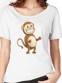 The Monkey Emoji From Skype Women's Relaxed Fit T-Shirt
