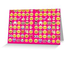 pink emoji Greeting Card