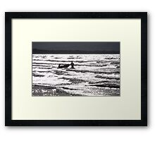 Silver Moon Framed Print