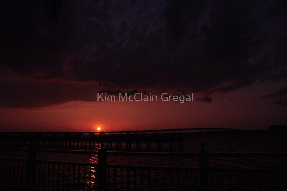 The Sun Sets Over Charlotte Harbor by Kim McClain Gregal