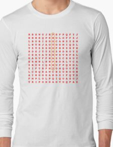 Photography Word Search Puzzle Long Sleeve T-Shirt