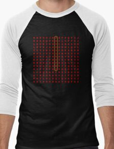 Photography Word Search Puzzle Men's Baseball ¾ T-Shirt
