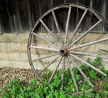 Still Life with Wagon Wheel by jsmusic