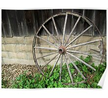 Still Life with Wagon Wheel Poster