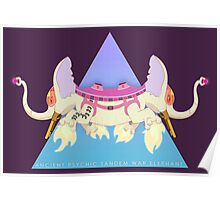 Ancient Psychic Tandem War Elephant Poster