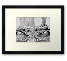 Kissing Cousins, bunnies Framed Print