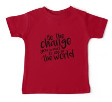 Be the Change - Black Baby Tee