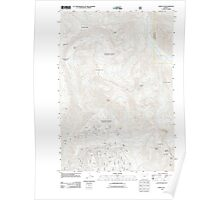 USGS Topo Map Oregon China Cap 20110816 TM Poster