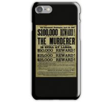 John Wilkes Booth Wanted Poster iPhone Case/Skin
