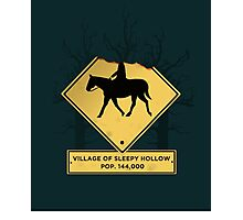 Headless Horseman Sign Photographic Print