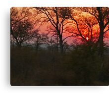 Sunset, South Africa Canvas Print