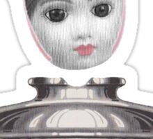 fuzzy pink ears insulator girl Sticker