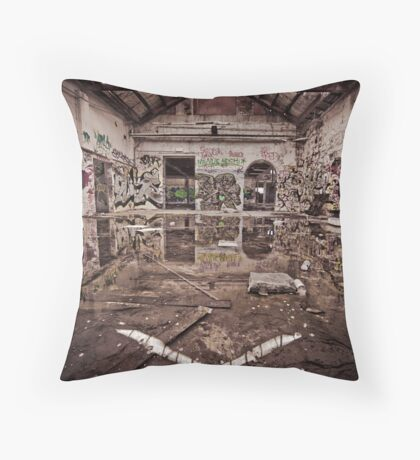 Abandoned Art in Watercolour Throw Pillow
