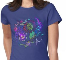 RETRO-Psychedelic Floral Womens Fitted T-Shirt