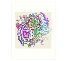 RETRO-Psychedelic Floral Art Print