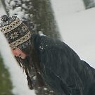 smiling snowing by LisaBeth