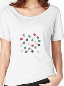 Blue grey stars Women's Relaxed Fit T-Shirt