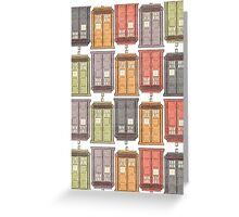 Assorted Police Boxes Greeting Card