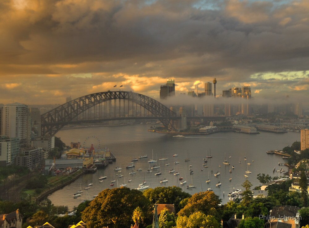 Loneliness - Moods Of A City, Sydney Harbour - The HDR Experience by Philip Johnson