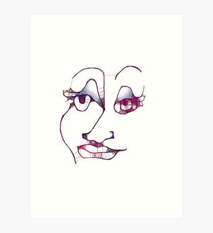 Scribble Face Art Print
