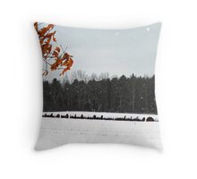 Frosted Bales Throw Pillow
