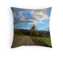Elmore Mountain Road Throw Pillow