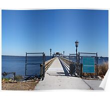 City Pier, City of Green Cove Springs, Florida Poster