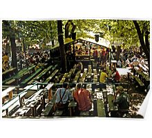 Lunchtime at the Bergkirchweih, Erlangen, Germany. Poster