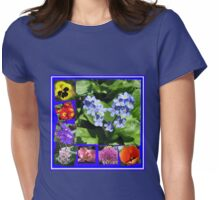 Waltz of the Flowers Collage Womens Fitted T-Shirt