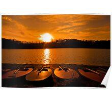 Sunset over Ardingly Reservoir Poster
