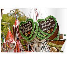 Ginger-breads at Erlangen Fair, Germany. Poster