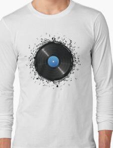 33 Vinyl Record Music Notes Long Sleeve T-Shirt