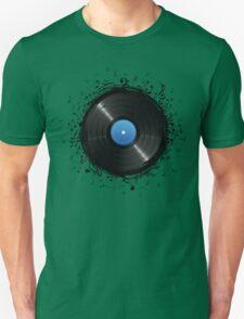 33 Vinyl Record Music Notes T-Shirt