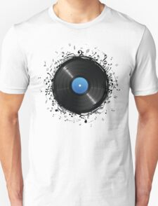 33 Vinyl Record Music Notes T-Shirt