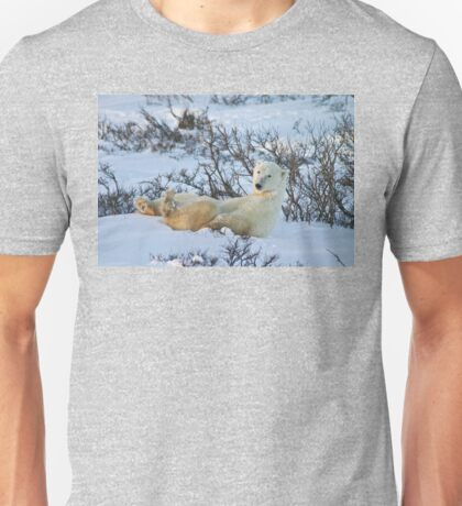 Yoga Bear seated silly Unisex T-Shirt