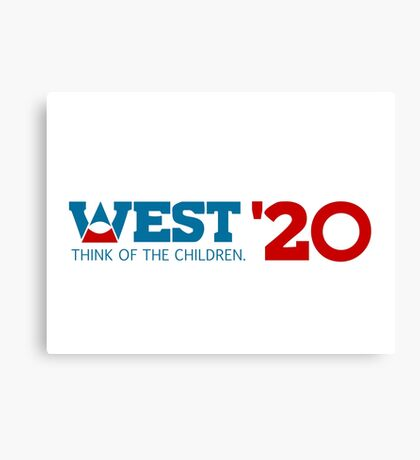 Kanye West for President 2020 Canvas Print
