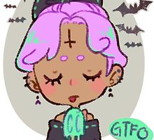gtfo - pastel goth girl by Taiya