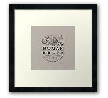 Science - Human Brain Framed Print