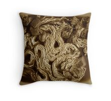 tea and twine Throw Pillow
