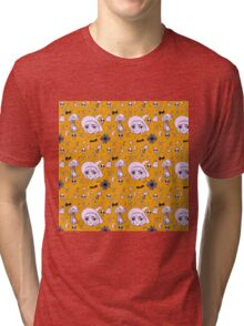 Witchy  // Orange & Purple Tri-blend T-Shirt