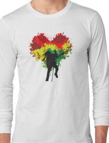 Bob Marley Dreadlock Rasta Heart Long Sleeve T-Shirt