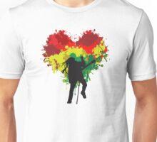 Bob Marley Dreadlock Rasta Heart Unisex T-Shirt