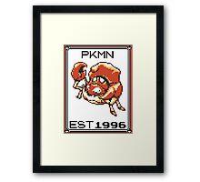 Kingler - OG Pokemon Framed Print