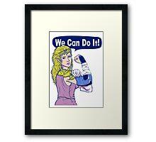 ZELDA - We Can Do It!  Framed Print