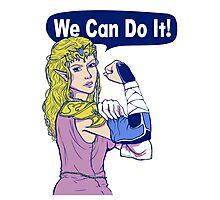 ZELDA - We Can Do It!  Photographic Print
